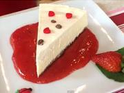 Cheesecake - recept na cheesecake s jahodovou polevou