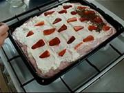 Jahodové řezy - recept na jahodový koláč