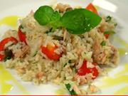 Tuniakový  šalat - recept na ryžový šalát  s tuniakom a kapary