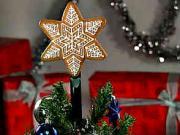 Perniková vianočná hviezda - hviezda na stromček z perníka