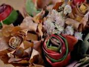 Podzimní kytice z listí - kytice spletená z podzimu