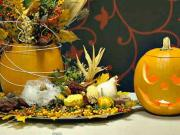 Halloweenska ikebana