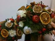 Podzimni dekorace ve tvaru stromu