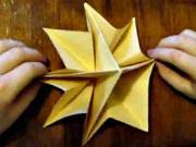 Vianočná hviezda z papiera - origami Vianočného stromčeka