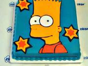 Torta Bart Simpson - návod na tortu s Bártom