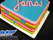 Pruhovaná torta - ako urobiť farebnú pruhovanú tortu