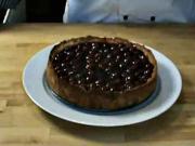Tvarohovo - višňový koláč - recept na tvarohový koláč s višňami