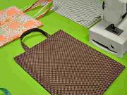 Nákupná taška - Šijeme jednoduchú nákupnú tašku (3/3) - kurzy šitia