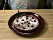 Mandľovo - pomarančový koláč - recept na pomarančový koláč s malinami