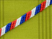 Pletený náramok - ako si upliesť trojfarebný naramok