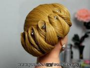 Svadobný učes  pre stredne dlhé vlasy