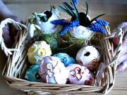 Kraslice 3D vintage - zdobenie velkonočných vajíčok