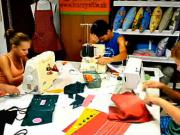 Deti za šijacím strojom -Šitie - Kurz šitia