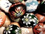 Vajíčka zdobené voskom
