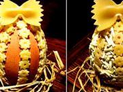 Velkonočné vajíčko zdobené cestovinami