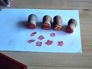Jak vyrobit razítka z mechové gumy