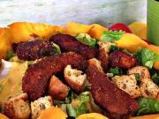 Caesar salát - recept na Caesar salát s kuřecími kousky