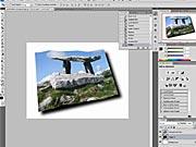 Zvlnená pohľadnica vo Photoshope (2/2)