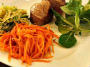 Bravčová panenka so zeleninovými špagetami - recept