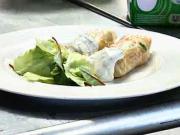 Závitky s rybou - recept na závitky s rybou a zeleným šalátom