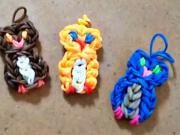 Sova - privesok z gumičiek