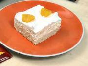 Broskyňové rezy - recept na broskyňové rezy