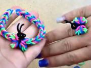 Prstienok a náramok s motýľom z gumičiek
