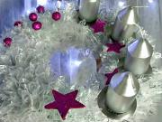 Vánoční adventní věnec z organzy