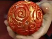 Polystyrénové vintage gule - dekorovanie