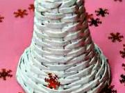 Zvonček z papiera - papierové pletenie - pletenie z papiera