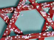 Vánoční hvězda z dřevěných paliček