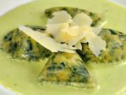 Špenátové pirohy - recept na špenátové ravioli s riccotou