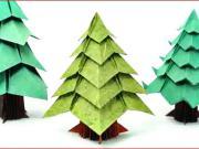 Vianočný stromček z papiera
