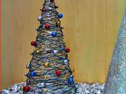 Vianočný stromček zo špagátu
