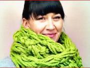 Pletený šál - ako si upliesť rukami šál do 30 minút