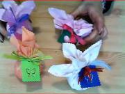 Textilné levanduľové batôžky - levandula