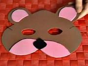 Medvěd - karnevalová maska