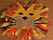 Lev z papiera - karnevalová maska leva z papiera - papierovy lev