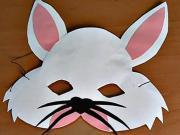 Zajac - karnevalová maska z papiera