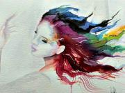Maľovanie vodnými farbami - tanečnica