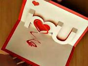 I love U -  3D pozdrav so srdcom