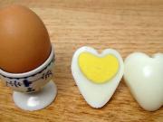 Vajíčko v tvare srdca - vajce na tvrdo v tvare srdca - recept ♥