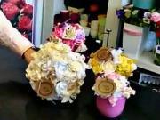 Postup ako si vyrobiť kvety z látky