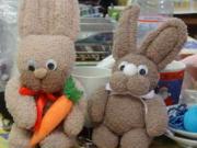 Velikonoční zajíček z ponožek - návod na výrobu velikonočního zajíčka z ponožek