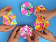 Papierová skladačka - Fextangles geometrická skladačka z papiera