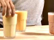 Smoothie nápoj - 3 druhy smoothie -kokteil z ovoce a zeleniny