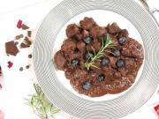Divina s višňami a čokoládou - recept  na divinové ragú