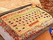 Torta v tvare PC klávesnice