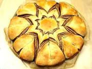 Nutellový koláč v tvare hviezdy - recept na koláč z lineckého cesta v tvare hviezdy s nutellou