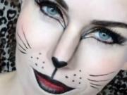 Halloweenské líčení - make up kočka